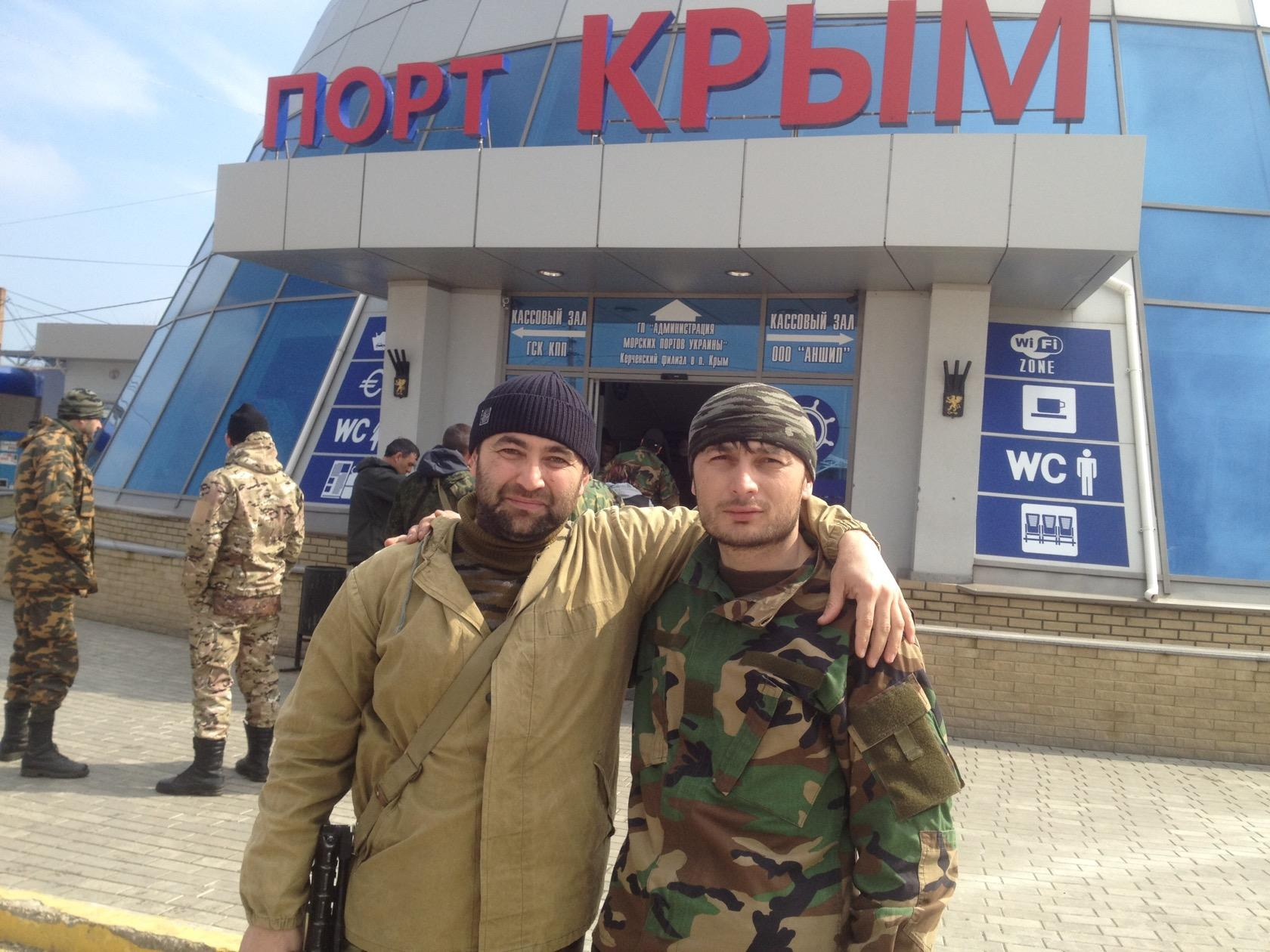 En förare av en rysk specialenhet, Ilyas Hazirovitj Midaev, på Krim