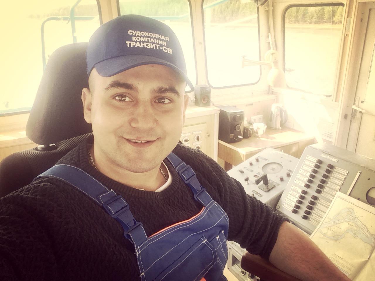 Ivan Terekhov från landstigningsfartyget Yamal