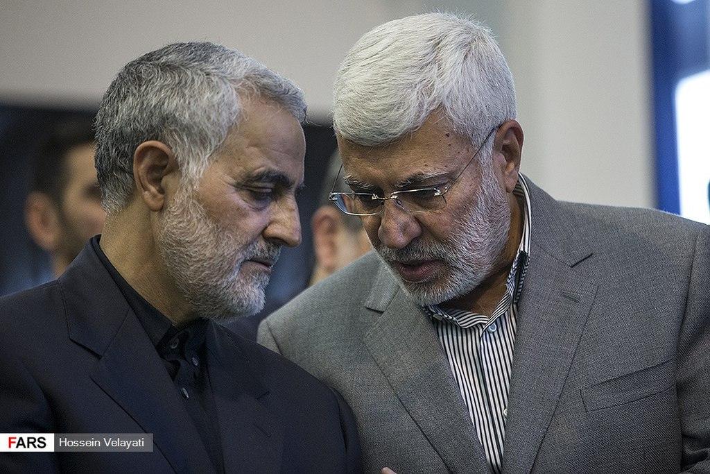 Касем Сулеймані (зліва) і Абу Махді аль-Мухандіс (праворуч)