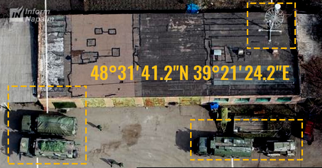 Luhanskda döyüş texnikası ilə rus yük maşını karvanı