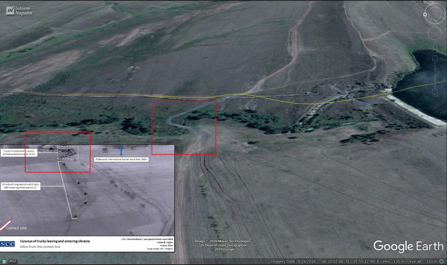 Ryska lastbilar med vapen vid gränsen till Ukraina