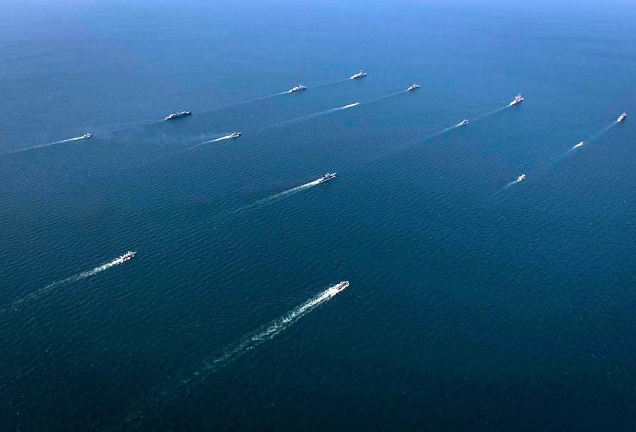 Den marina fasen av övningarna Sea Breeze-2020. Foto: Ukrainas försvarsministerium