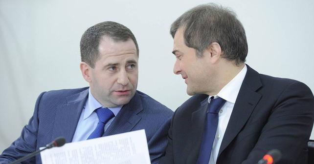 Mykhail Babitj og Vladislav Surkov