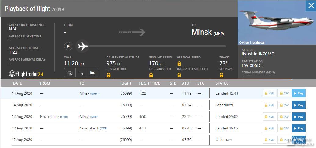 Flygningar till Kubinka militära flygfält nära Moskva