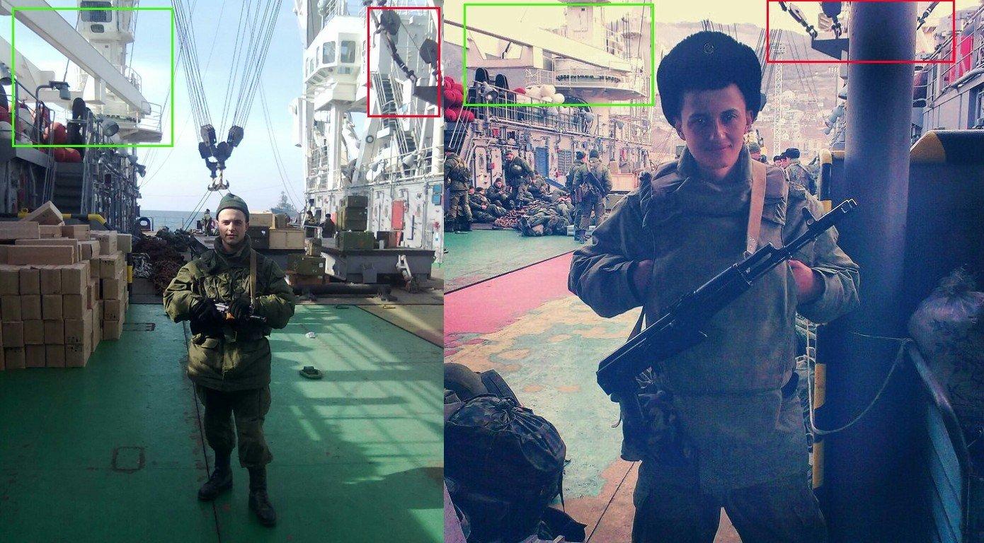 Jämförelse av fotografier som tagits ombord på KIL-158