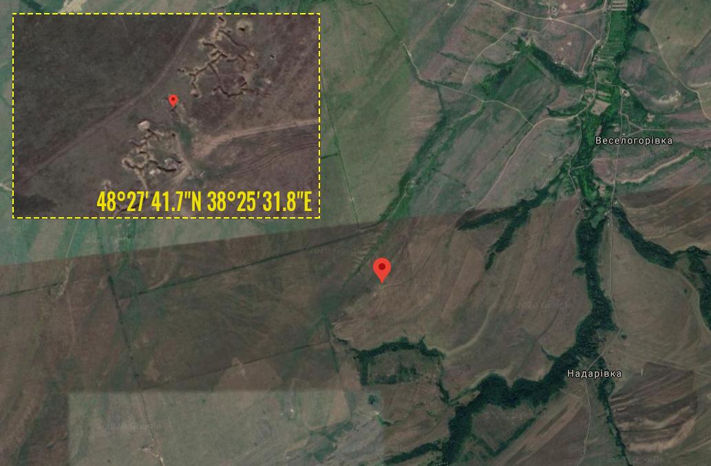 Koordinaterna för placeringen av granatkastarna