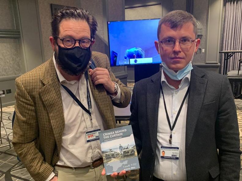 OSCE-repræsentanter modtager materiale om besættelsen af Krim
