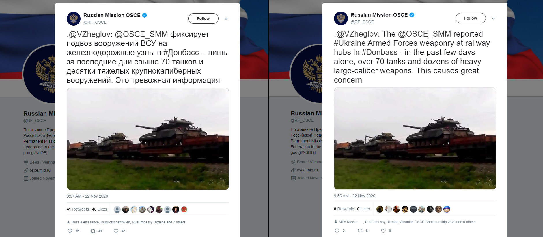 Russiske påstander om 70 stridsvogner til Donbas