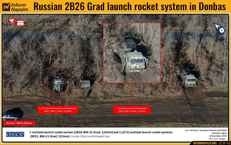 """Ryska 2B26 """"Grad"""" MLRS:er i Donbas"""