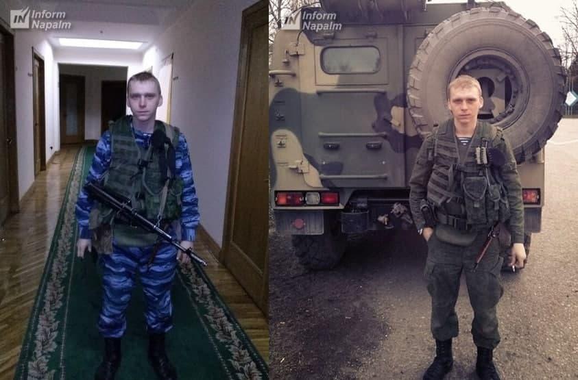 Den ryska fallskärmsjägaren Alexei Ivanov på Krim 2014