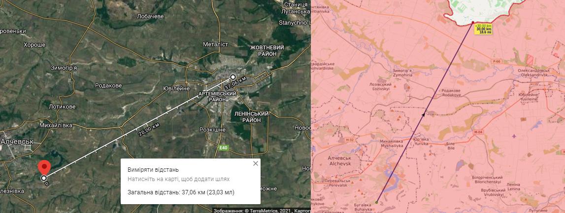 En dold rysk radarstation KASTA-2E1 51U6 i Donbas