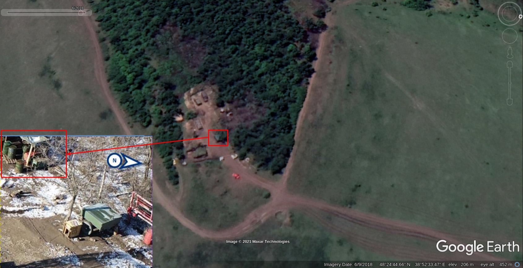 Russian radar system Kasta-2E1 spotted in Donbas 4