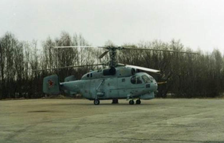 Ka-27E-helikopter vid 872. helikopterregementet på Katja flygplats