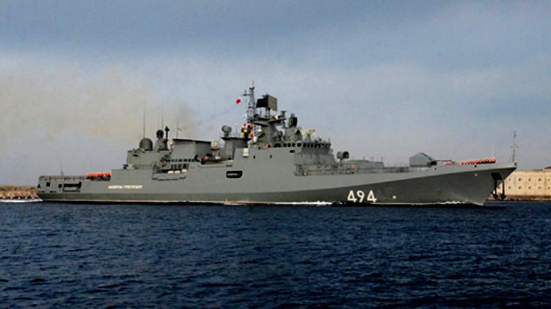 Huvudfartyget från projekt 11356, Amiral Grigorovitj