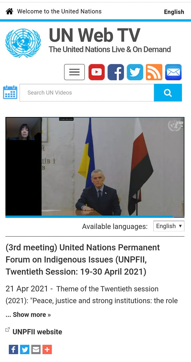 Ukraine støtter de oprindelige folk i Rusland