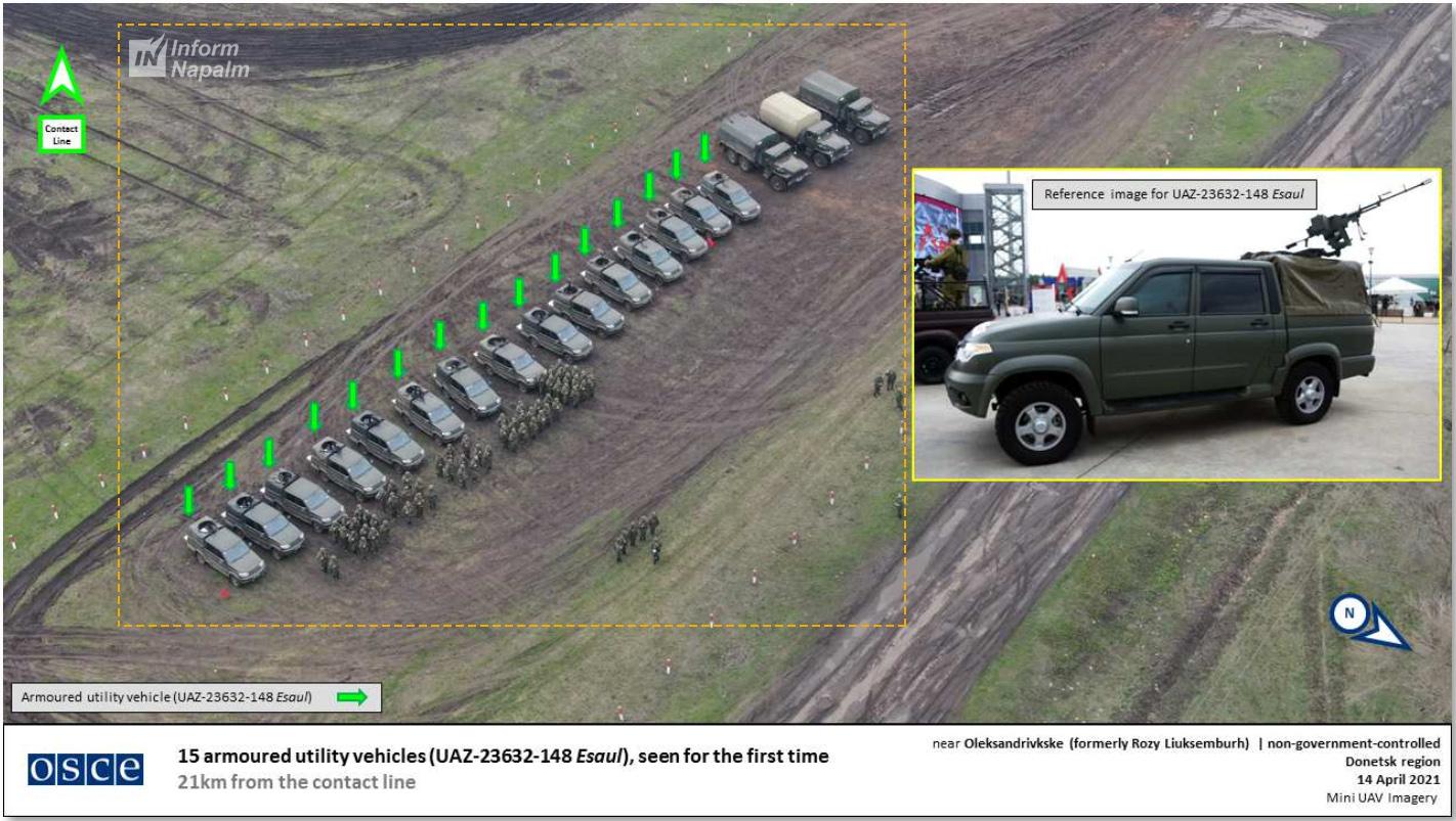 Donbas'ta Rus yapımı zırhlı UAZ Esaul
