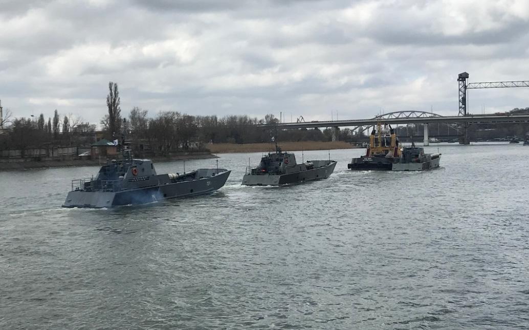 Brug af både fra den Kaspiske flotille