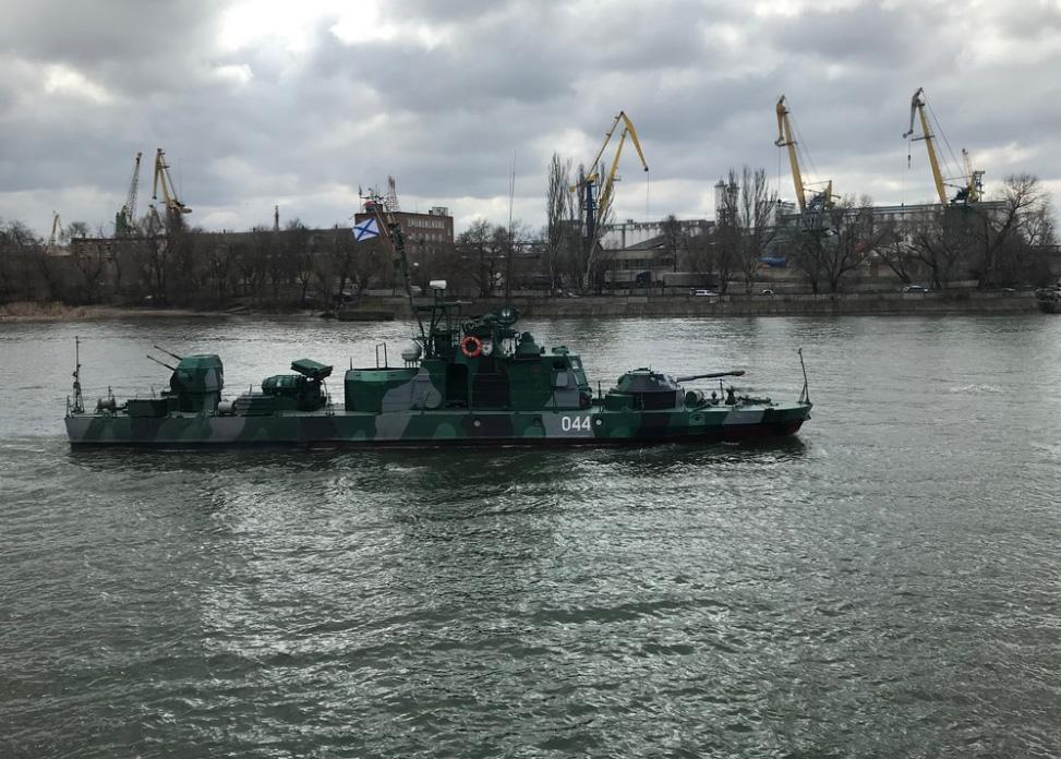 En båd fra den Kaspiske flotille