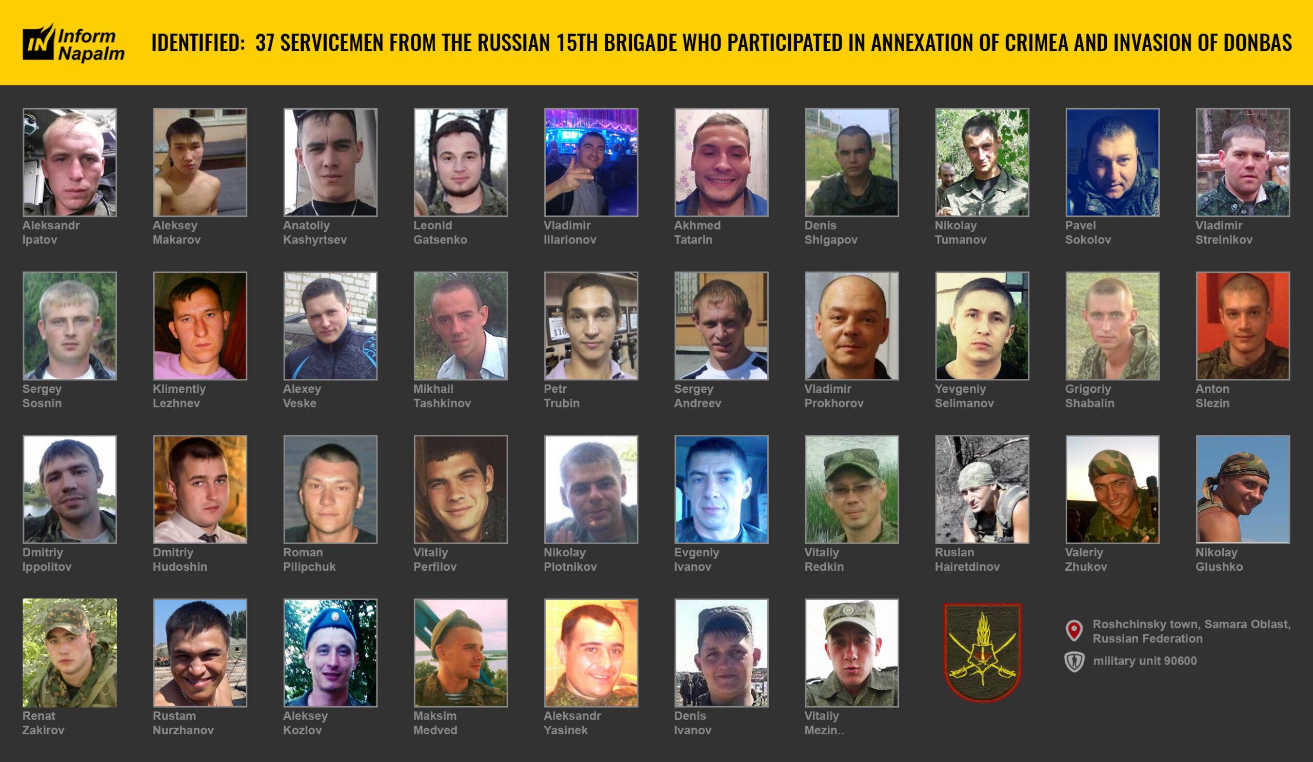 37 russiske soldater i krigen mot Ukraina