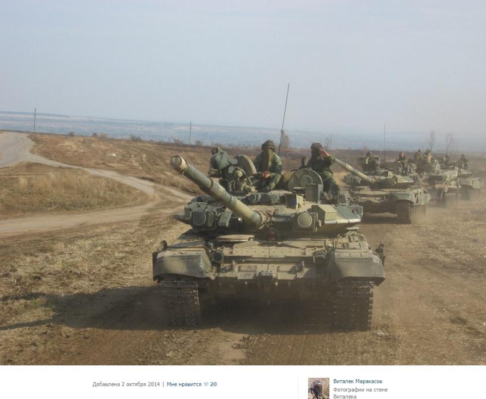 En konvoj med T-90A från MekIB-136