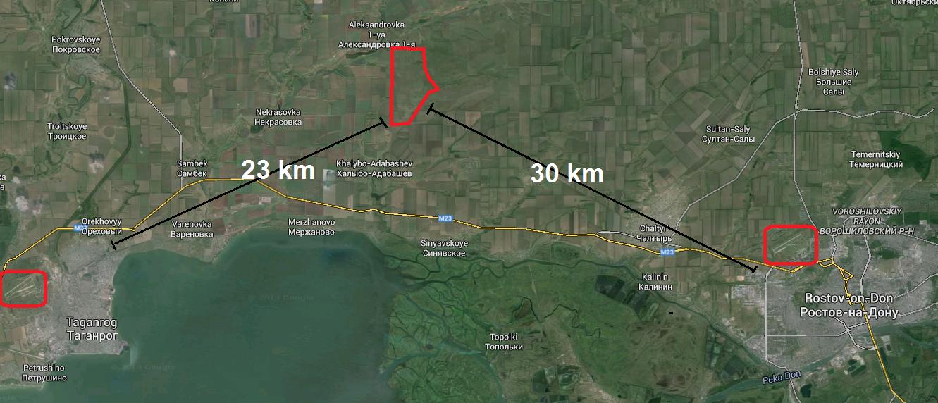База на территории России (спутниковый фотоснимок Google Earth)