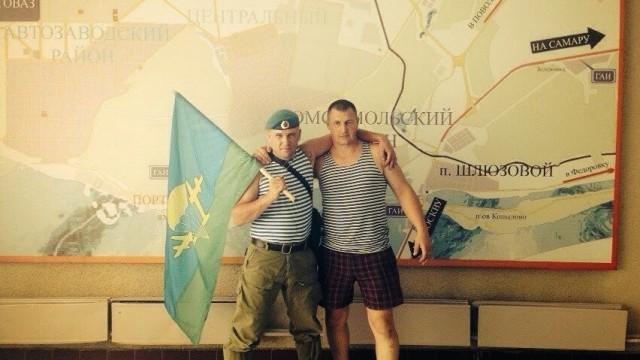 Кривко  на встрече бойцов 3-ей бригады ГРУ РФ в Самаре