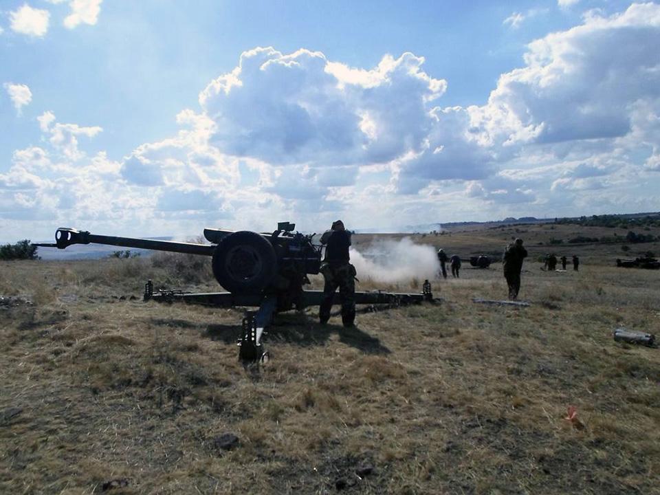 Фото: Артиллерия ЛНР под Краснодоном / stainlesstlrat.livejournal.com