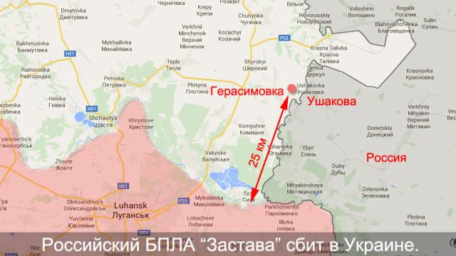 """Российский БПЛА """"Застава"""" сбит за 25 км от линии соприкосновения"""