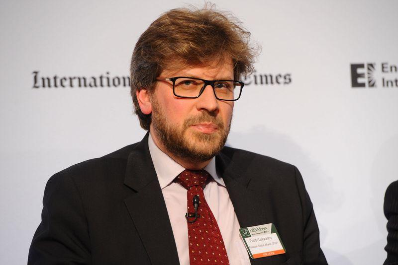 Федор Лукьянов на конференции в Лондоне, 2014г.