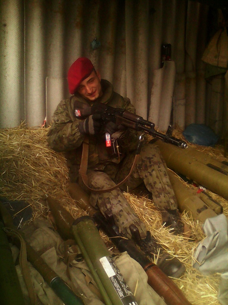 Radu (Radion) Kirilov in a gang group 'DPR' in Donbas. Picture from social network profile.
