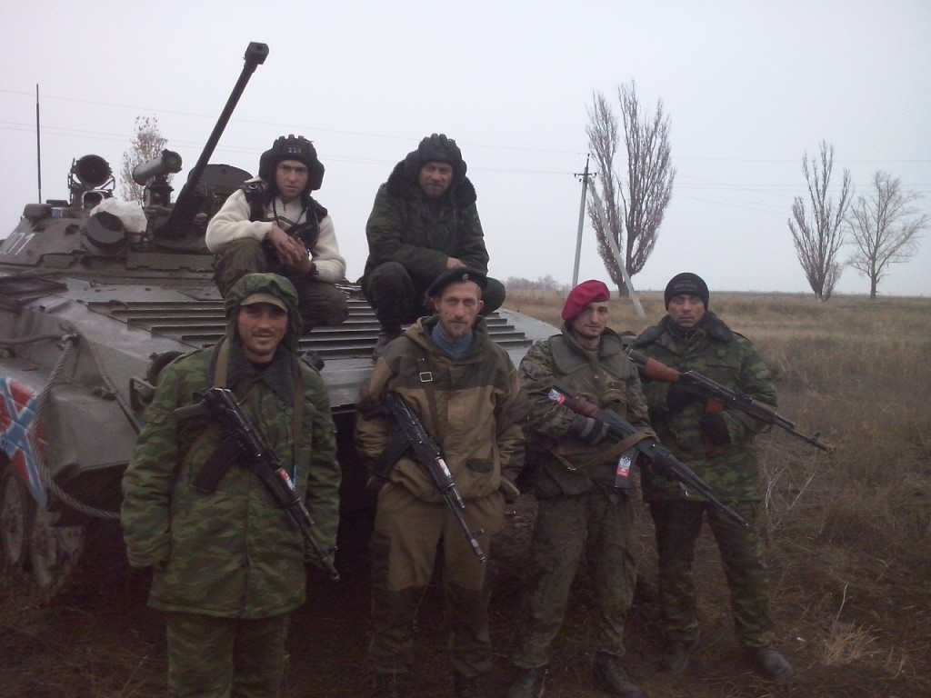 Radu (Radion) Kirilov in a 'DPR' gang group in Donbas. Picture from social network profile.