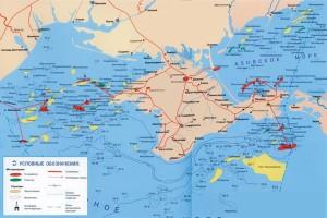 Gas fields map