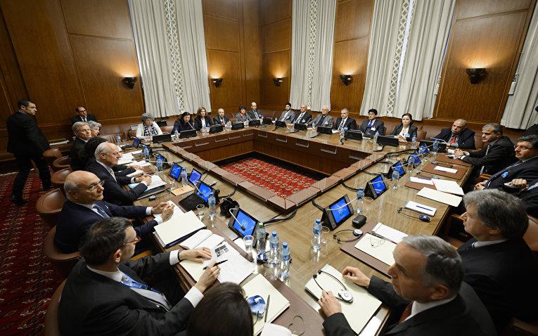Переговоры по Сирии в отделении ООН в Женеве. Архивное фото / © AFP 2016/ Fabrice Coffrini