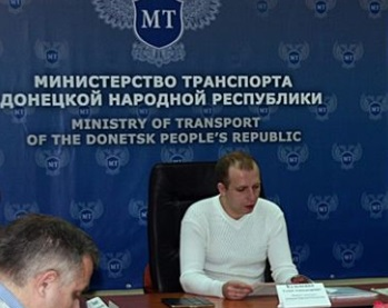 Minister of Transport in the breakaway republic of Donetsk