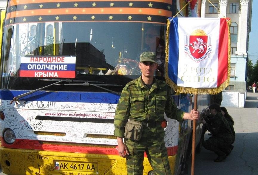 На фото пророссийский террорист из Казахстана Голиков Святослав. Участвовал в захвате ВР Крыма.