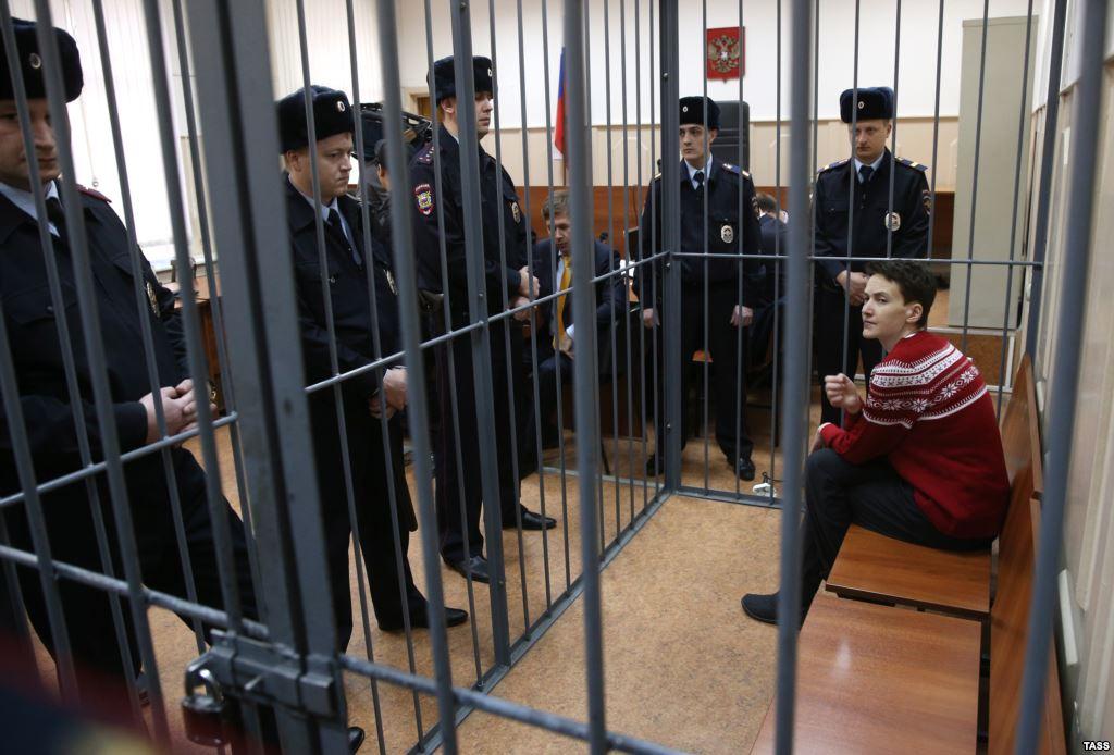 Nadija Sawczenko w sądzie
