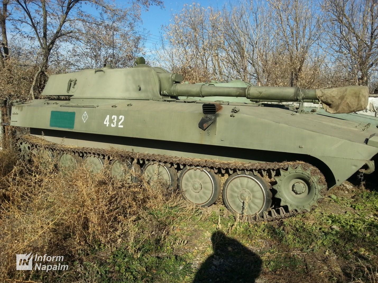 Sammansättning och beväpning i ockupationskrafternas 1:a artilleribataljon