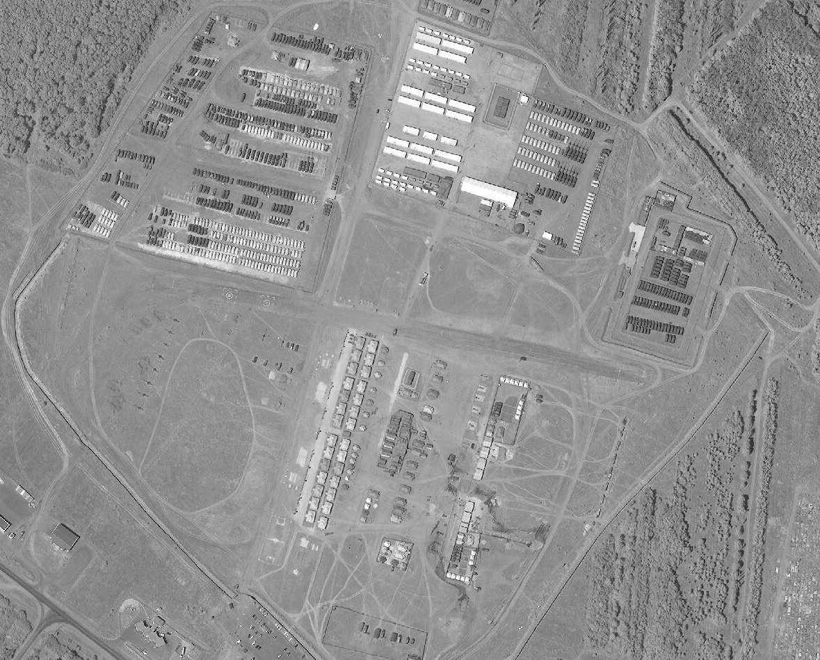 Russian military base in Valuyki. Satellite image from the second half of July 2016