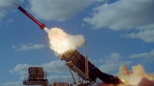 Запуск ракеты «Пэтриот»; аналогичная ракета недавно сбила сирийский военный самолет (Фото предоставлено ВВС Израиля)