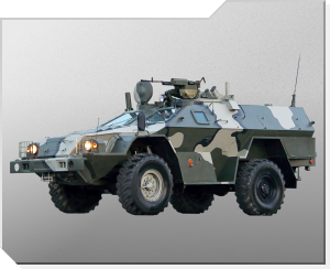 Pansret terrenggående kjøretøy KAMAZ-43269 Vystrel (Skytter)