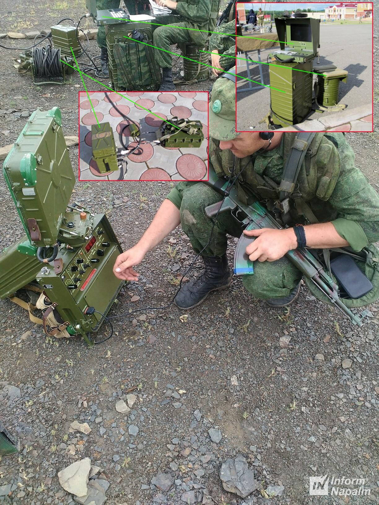 Avancerad rysk PSNR-8 markspaningsradar i östra Ukraina