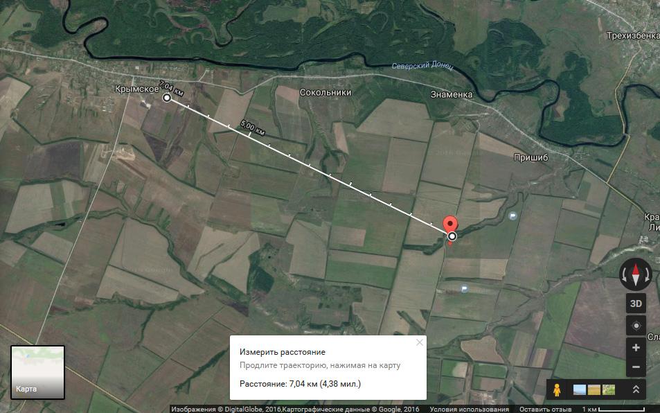 Krymske: Vinkelmätning och gruppering av ryska hybridstyrkor