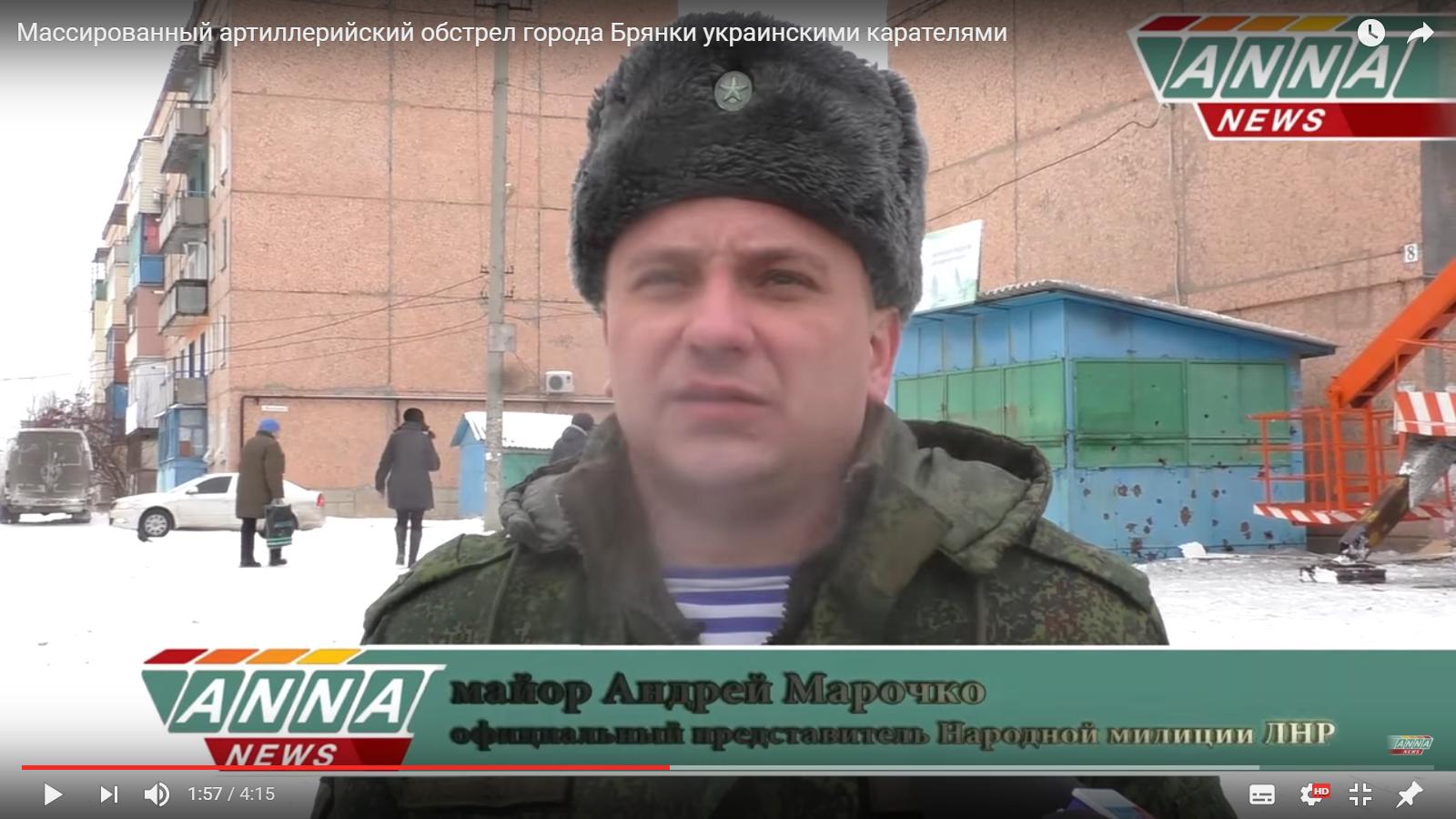 Ryssland behöver iscensatt artilleribeskjutning av Donbass