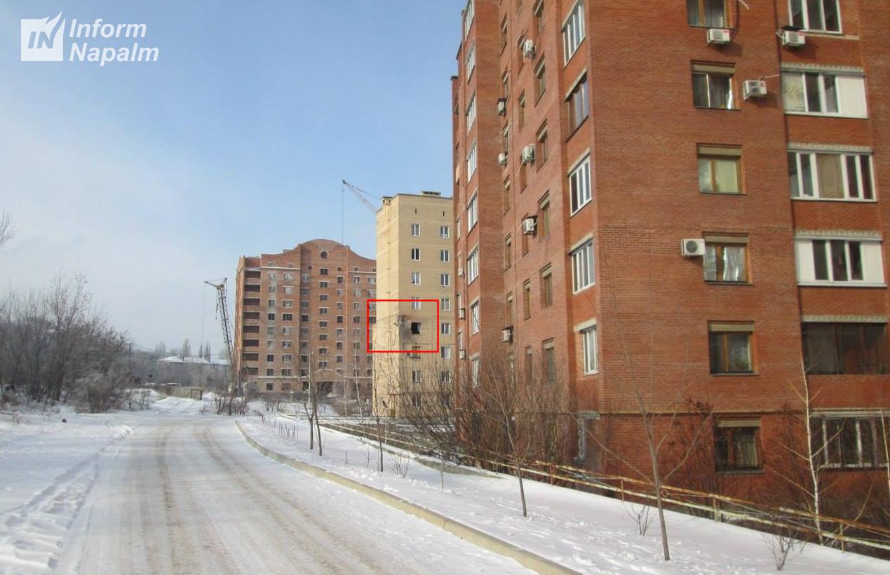 Rysk beskjutning av hyreshus i Donetsk