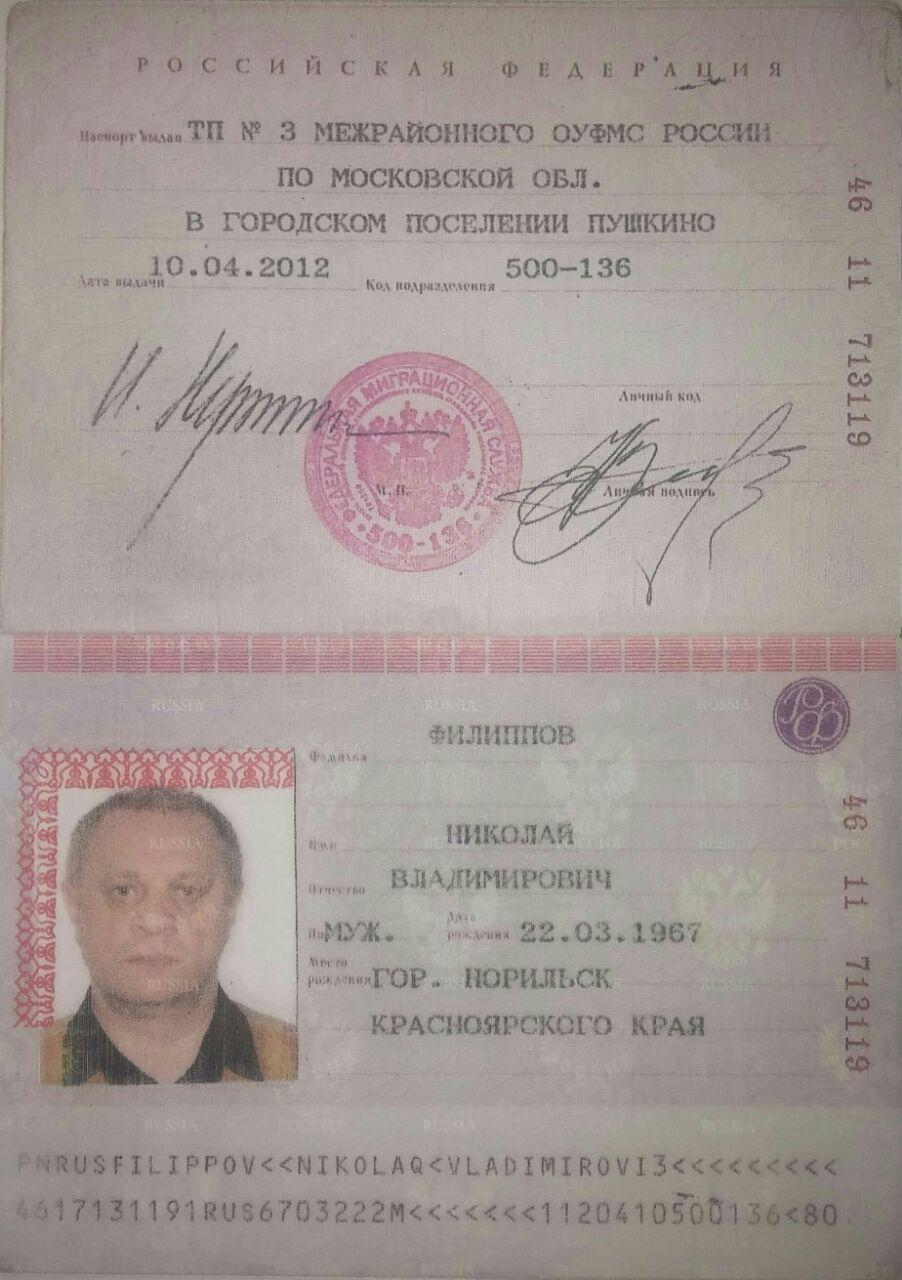 Nikolai Filippov, ID