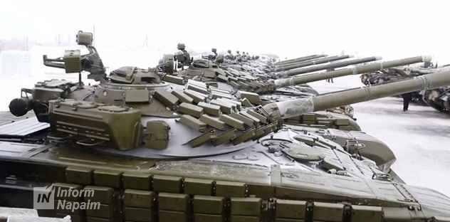 Ukrainska T-72AV-stridsvagnar