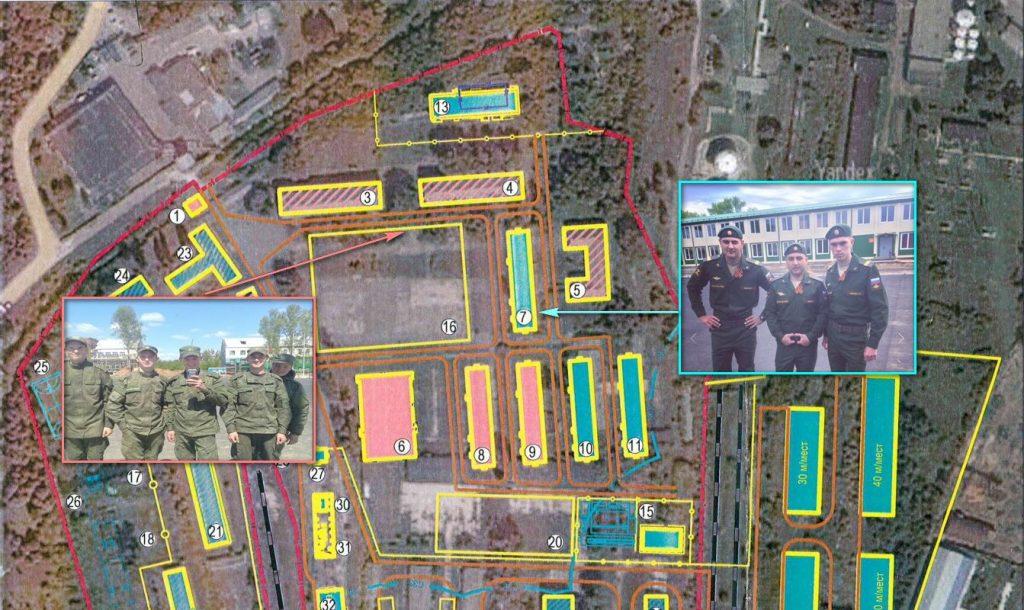 Träningsbasen i Klintsiy, Bryansk län, Ryssland