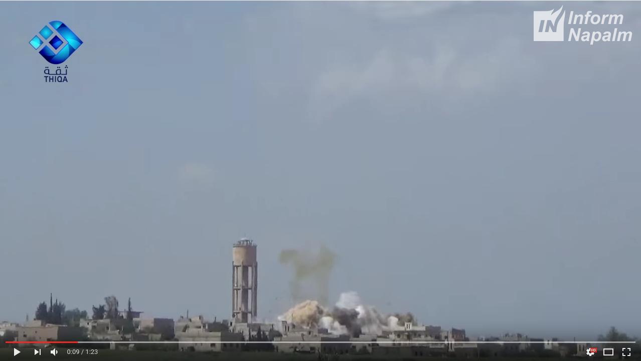 Syriske og russiske bombeangrep av sivile mål