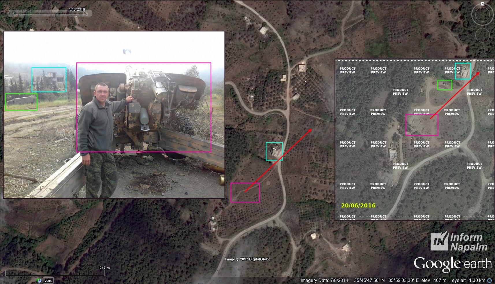 Ryska artilleriets falska operationer för att anklaga Turkiet