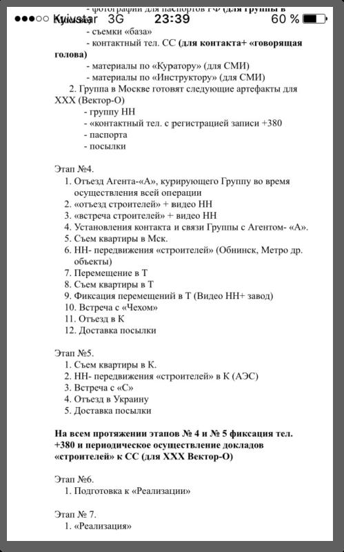Den ukrainske gruppen skal forberede følgende for XXX (Struktur-O)